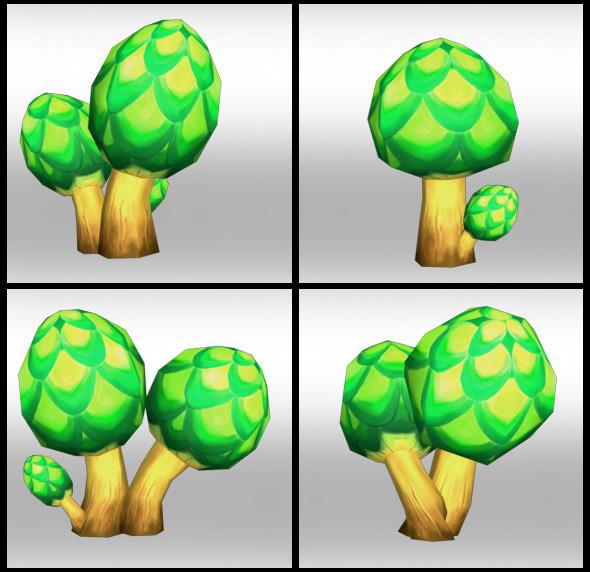 3DOcean Lowpoly Trees Toon pack 2 4298423