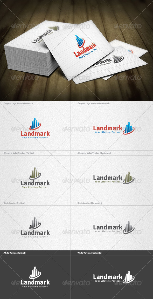 GraphicRiver Landmark Logo 4298841