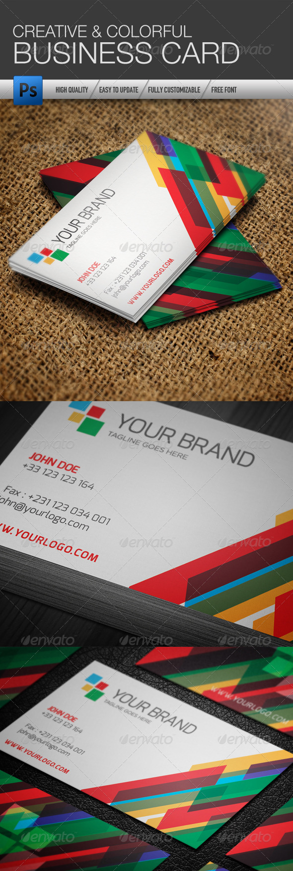 GraphicRiver Creative Colorful Business Card Template 4118848