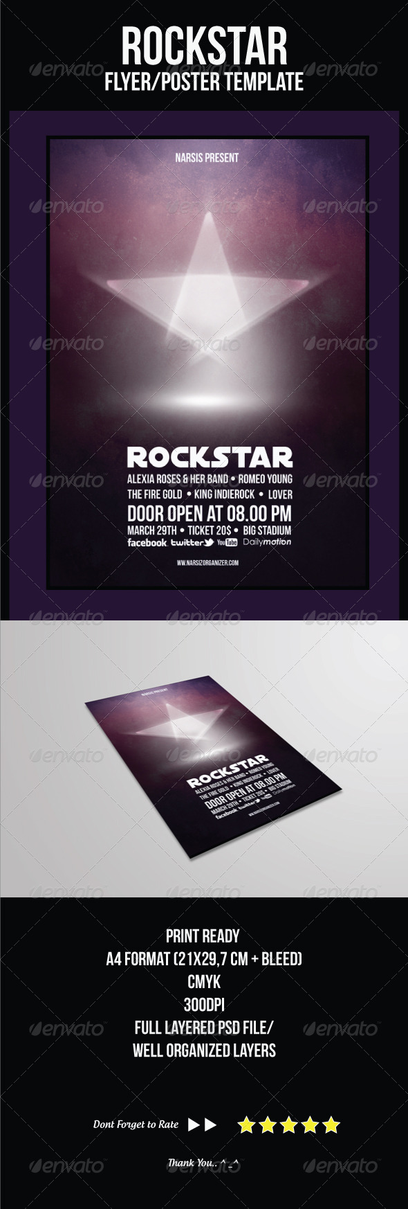 GraphicRiver Rock Star Flyer Template 4299073