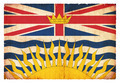 Grunge flag of British Columbia (Canadian province) - PhotoDune Item for Sale