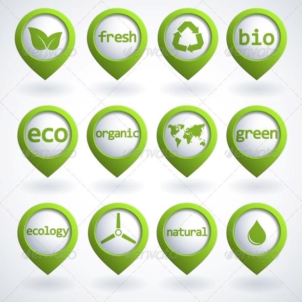 GraphicRiver Eco Buttons Set 4300335