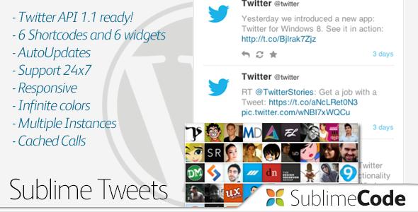 CodeCanyon Sublime Tweets 4301446