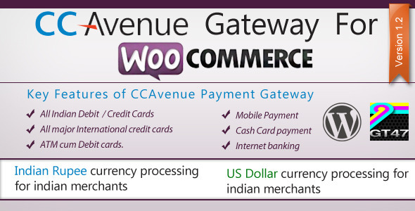 CCAvenue Payment Gateway for WooCommerce - WorldWideScripts.net Tuote myytävänä