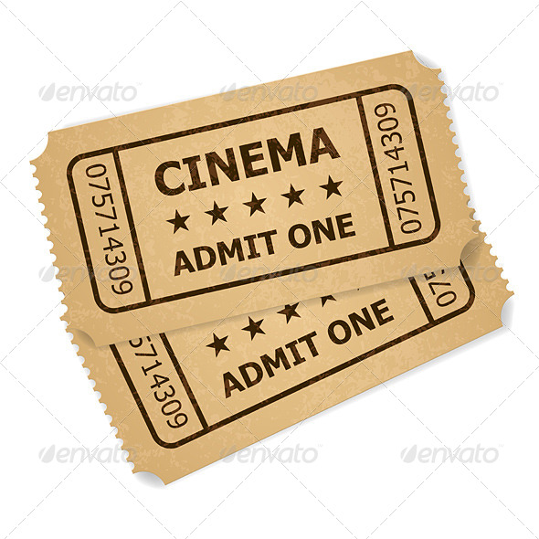 GraphicRiver Two Retro Cinema Tickets 4301777