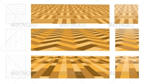 GraphicRiver Parquet in Perspective Plane 4301806