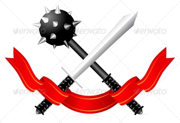 GraphicRiver Sword and Mace Illustration 4301903