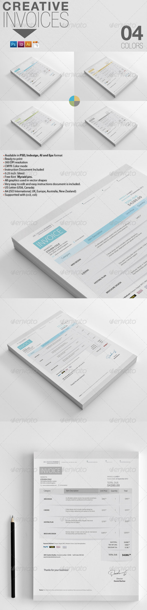 GraphicRiver Creative Invoices 4122011