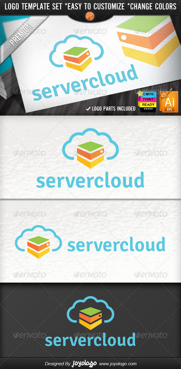 GraphicRiver Internet Hosting Cloud Server Logo Template 4302077