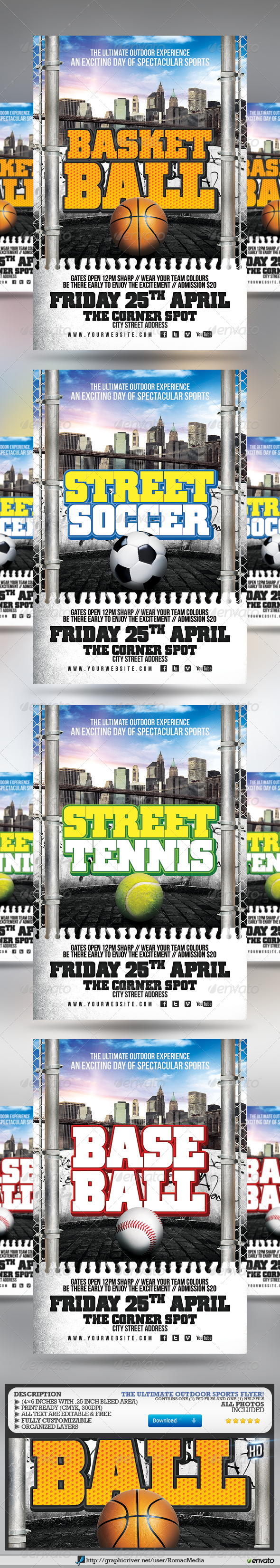 Outdoor Sports Flyer - Sports Events