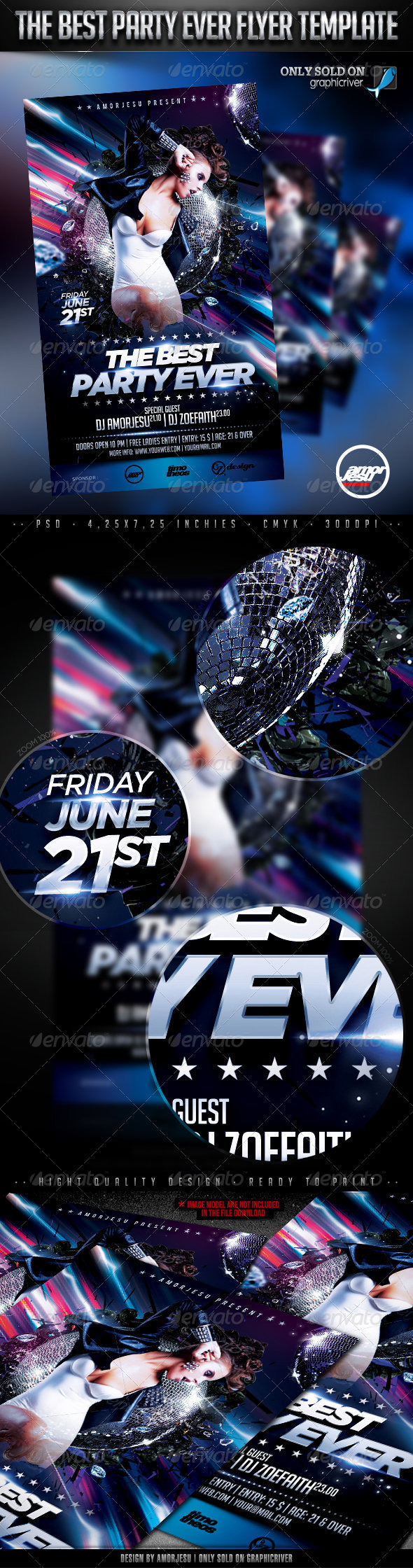 The Best Party Ever Flyer Template - Clubs & Parties Events