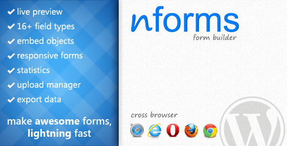 nForms -  WordPress的表单生成器 - WorldWideScripts.net产品出售