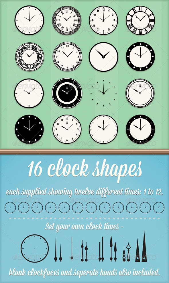GraphicRiver Clock Custom Shapes 4302500