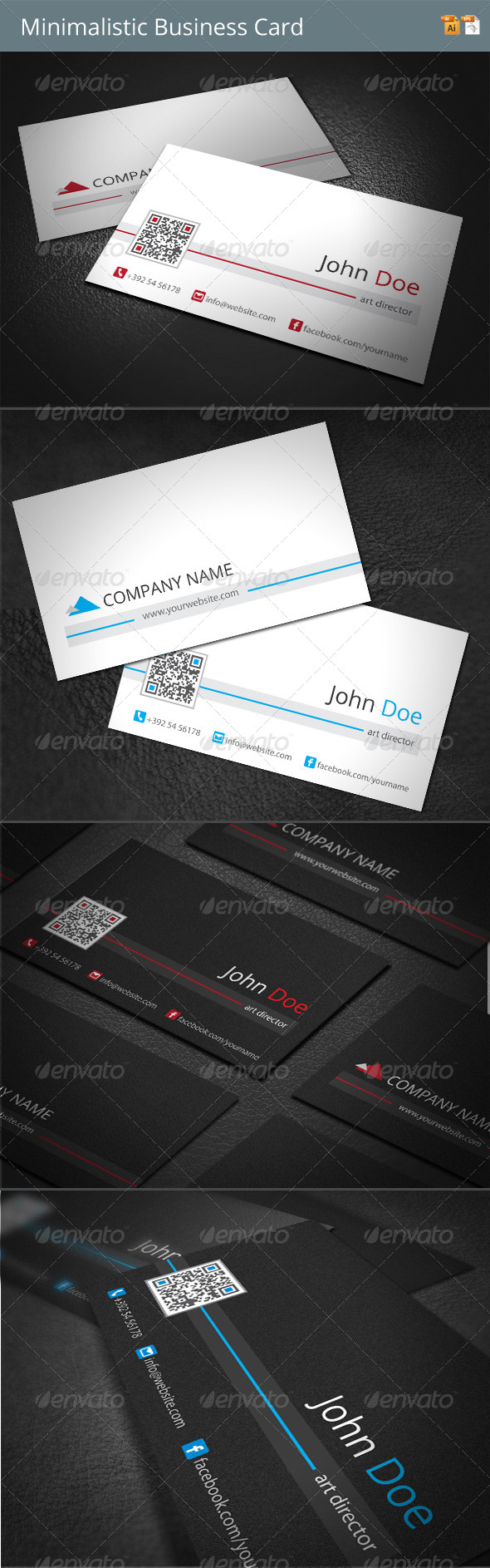 GraphicRiver Minimalistic Business Card 4131858