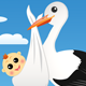 Stork with Baby  - GraphicRiver Item for Sale