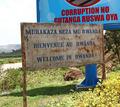 Welcome to Rwanda Sign - PhotoDune Item for Sale