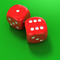 Two red dice on the green - PhotoDune Item for Sale