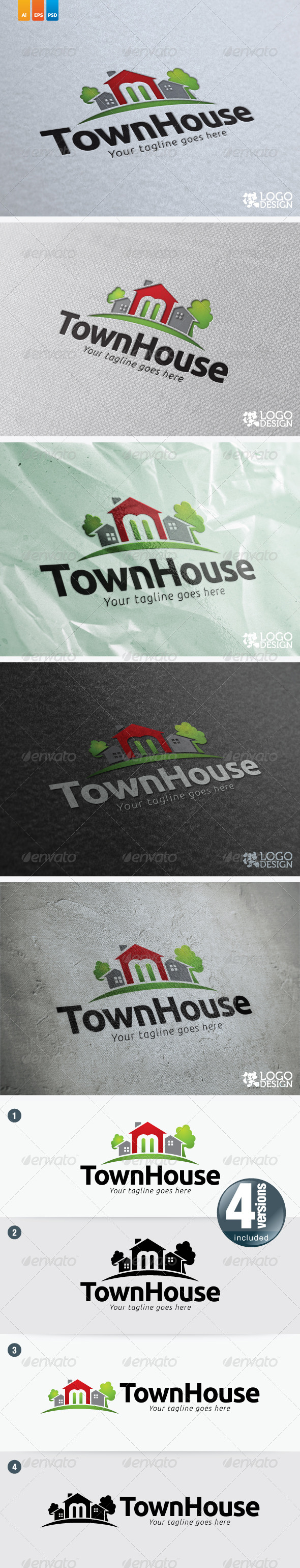 Town House - Buildings Logo Templates