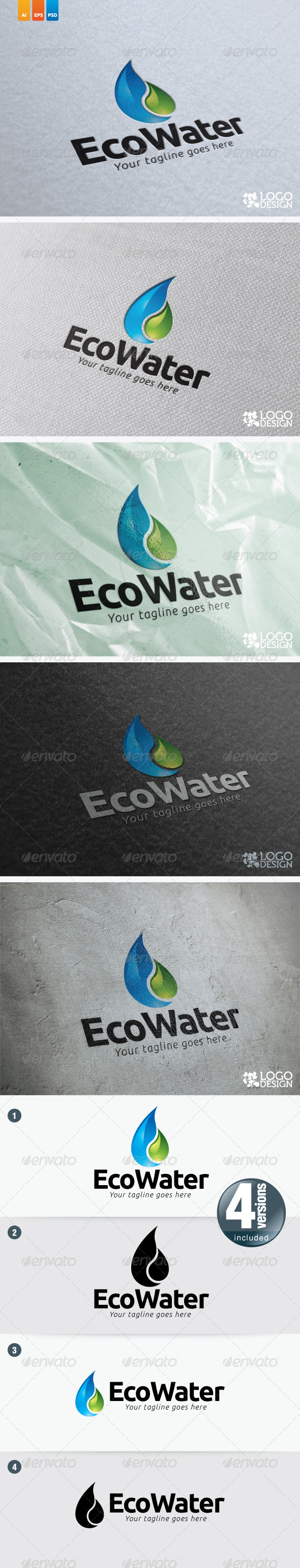 Eco Water - Nature Logo Templates