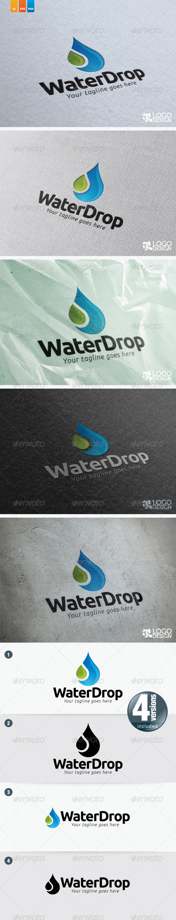 Water Drop - Nature Logo Templates