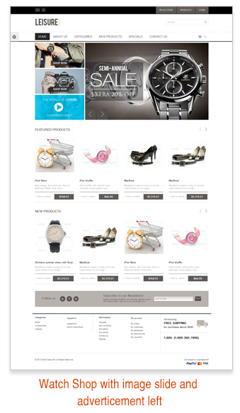 Leisure - Responsive HTML5 Prestashop Theme