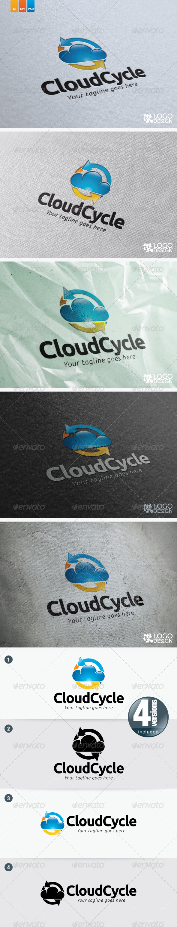 Cloud Circle - Symbols Logo Templates