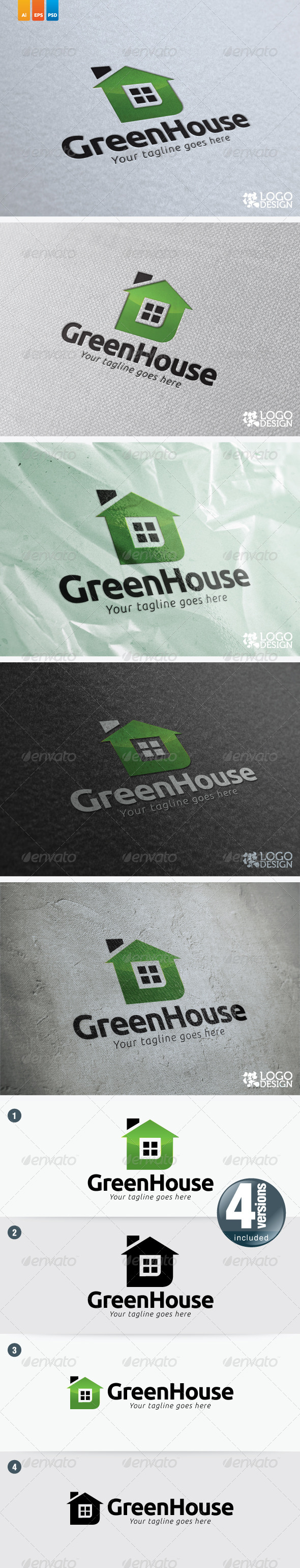 Green House - Buildings Logo Templates