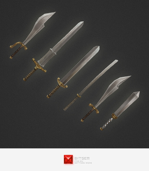 3DOcean Low Poly Weapon Set 03 4291673