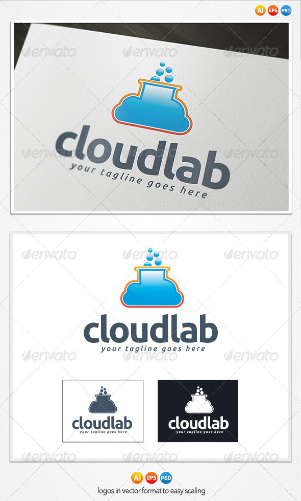 GraphicRiver Cloud Lab Logo 4208497