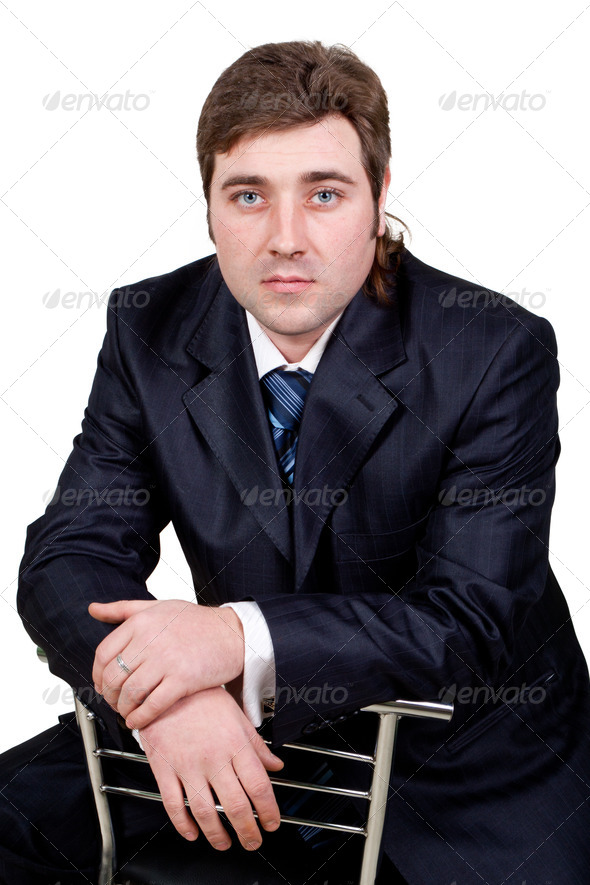 PhotoDune Young businessman posing in a suit 4307248