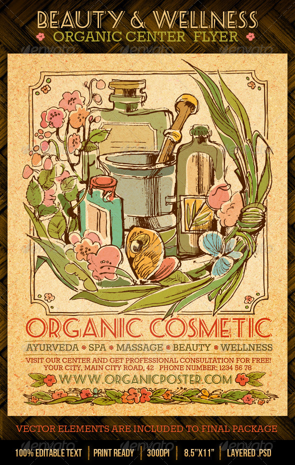 GraphicRiver Beauty And Wellness Organic Spa Center Flyer 4307482