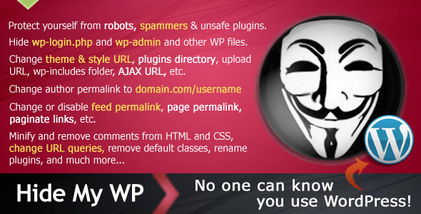 CodeCanyon Hide My WP No one can know you use WordPress 4177158