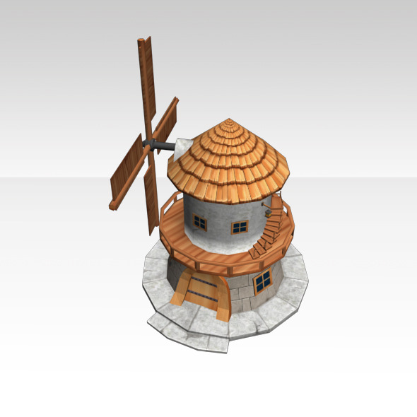 3DOcean Low Poly Wind Mill 4308634