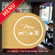 3 Fold Square Cafe Restaurant Menu - GraphicRiver Item for Sale