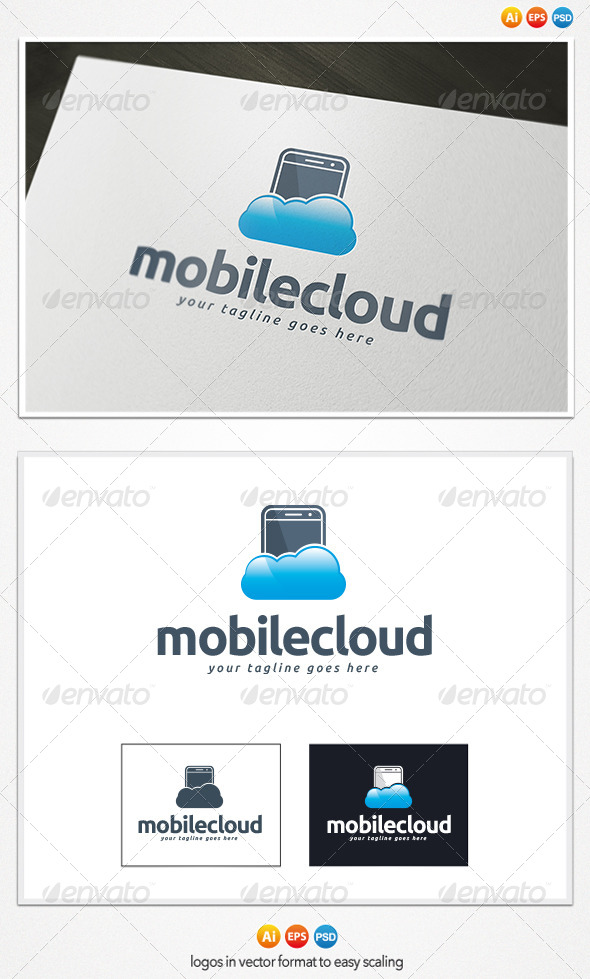 GraphicRiver Mobile Cloud Logo 4309262