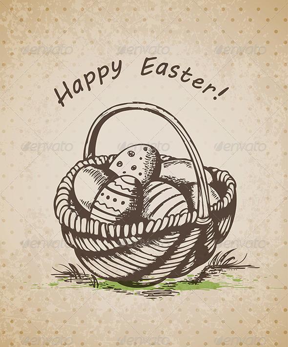 GraphicRiver Easter Basket 4310767