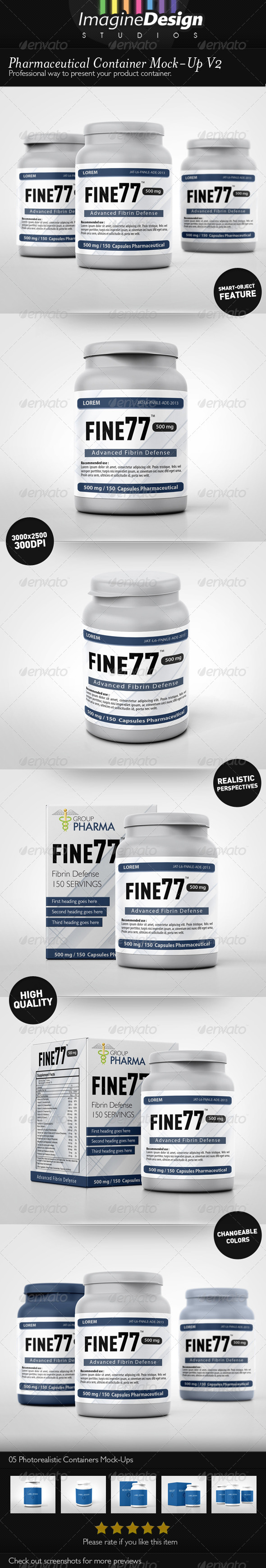 Pharmaceutical Container Mock-Up V2 - Miscellaneous Product Mock-Ups
