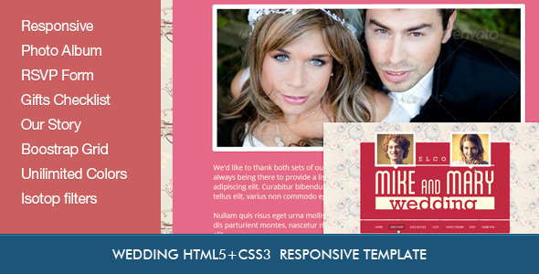 ThemeForest Wedding Retro HTML5 Template 4311490