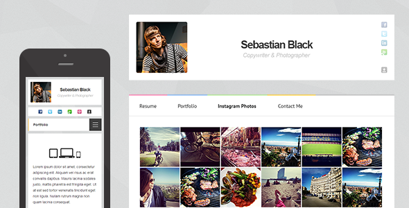 InstaCard - Responsive Virtual Business Card