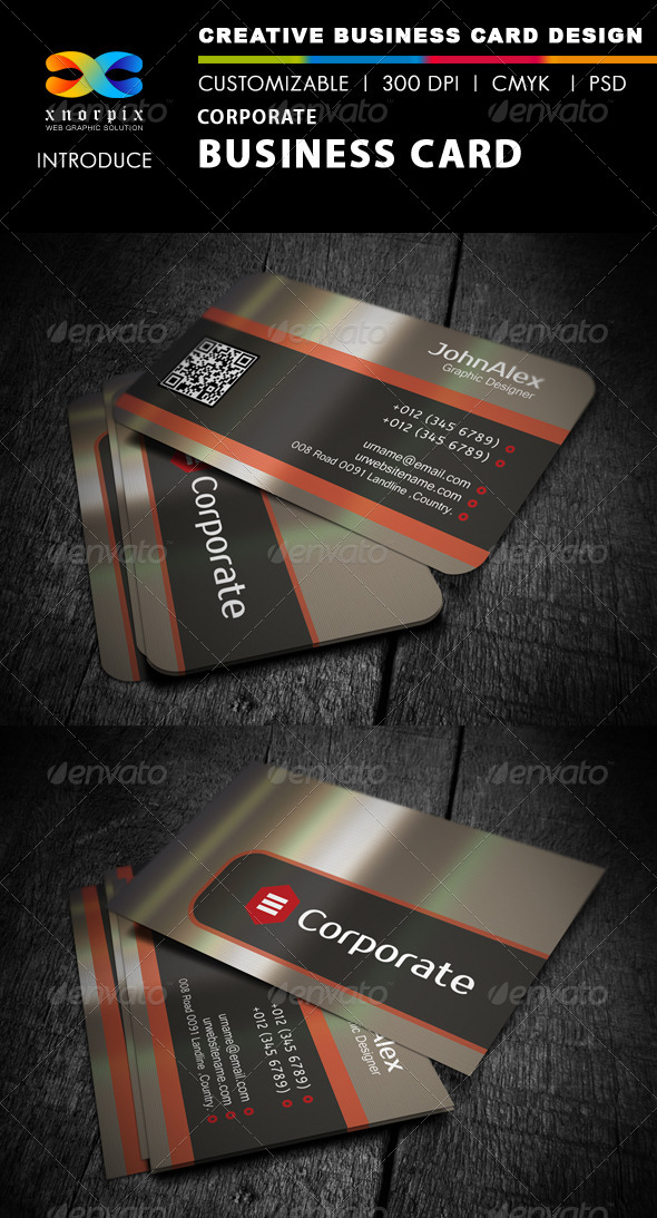 GraphicRiver Metal Business Card 4165719