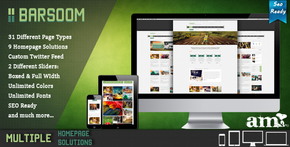 ThemeForest Barsoom HTML Multiple Purpose Template 4312211