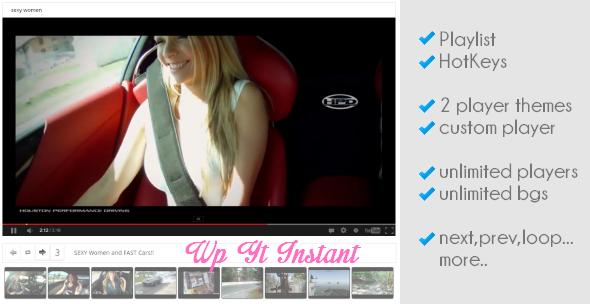 CodeCanyon WordPress YouTube Instant Player 4298083