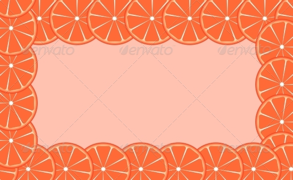 GraphicRiver Orange Frame Vector Illustration 4312649