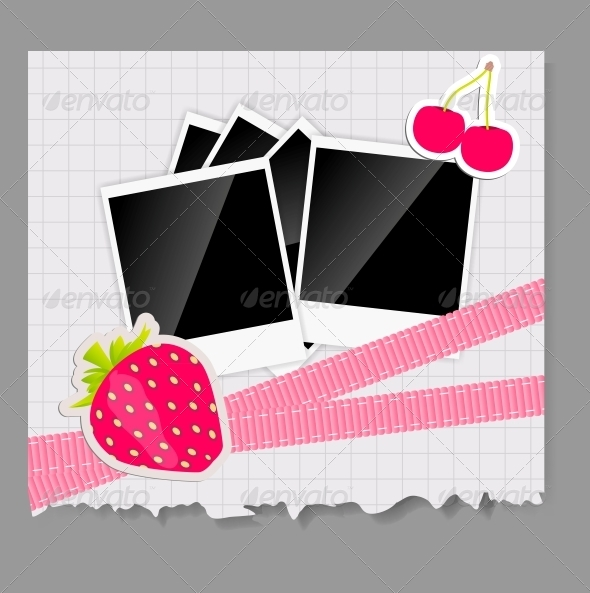 GraphicRiver Scrapbook Elements with Photos Frame 4312692