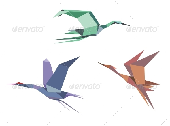 GraphicRiver Herons Cranes and Storks 4313451