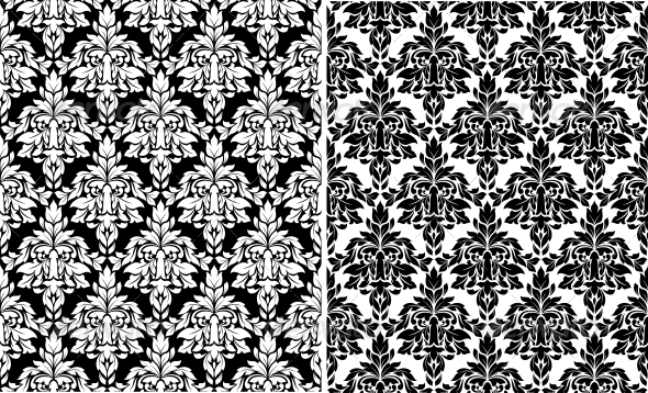 GraphicRiver Floral Damask Seamless Patterns 4315375