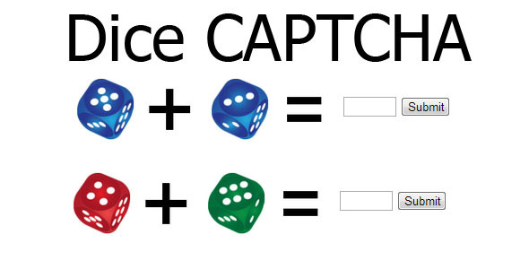 Dice Captcha - CodeCanyon Item for Sale