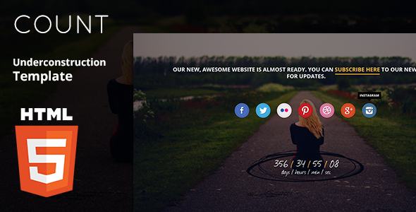Count - Underconstruction HTML5 Template