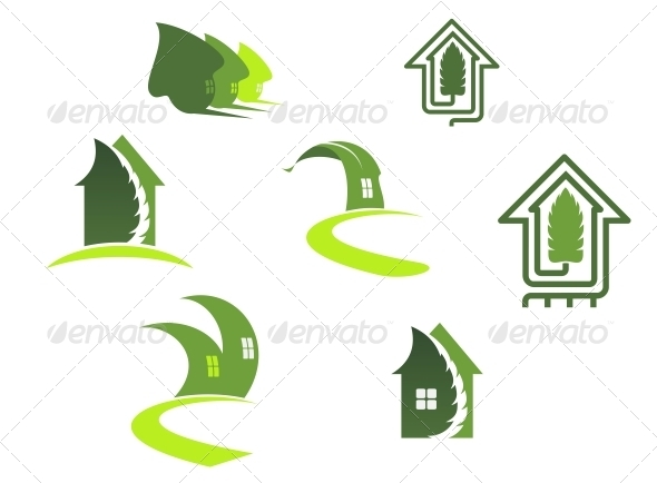 GraphicRiver Green Ecological Symbols 4318071