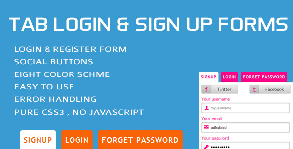 CodeCanyon Tab Login & Sign Up Forms 4306195